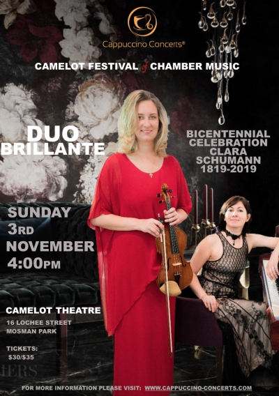 Camelot Festival of Chamber Music: BICENTENNIAL CELEBRATION OF CLARA SCHUMANN