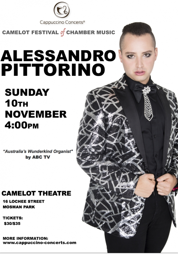 Camelot Festival of Chamber Music:  ALESSANDRO PITTORINO